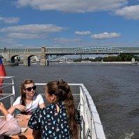 Пушкинский (Андреевский) мост. Открыт для пешеходов осенью 1999 года. :: Татьяна Помогалова