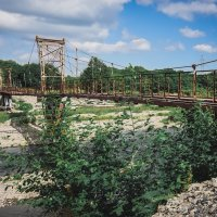 Старый подвесной пешеходный мост через Силинку! :: Ирина Антоновна