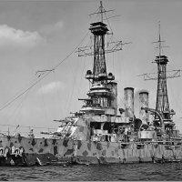 "Experimental camouflage tested on battleship USS ""New Jersey"", circa 1918. :: Александр"