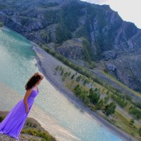 Слияние рек Чуя и Катунь в горах Алтая :: Надежда Смирнова