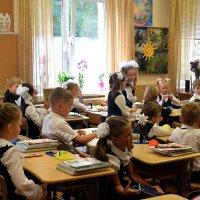 Первый учебник и первый урок - так начинаются школьные годы. :: Татьяна Помогалова