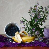 Бананово-черничный смузи :: Лидия Суюрова
