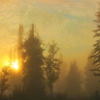 Восход в туманном мареве :: Сергей Чиняев