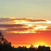 Пламенеющий закат :: Самохвалова Зинаида