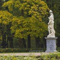 Скульптура Правосудия с грустью наблюдает осень... :: Senior Веселков Петр