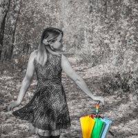 девушка с зонтом :: Ольга (Кошкотень) Медведева