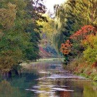 Тихо,и красиво  несет  свои воды  осенний  Пегнитц,Франконская  Швейцария :: backareva.irina Бакарева
