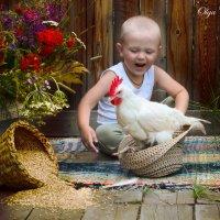 Мальчик и петушок :: Ольга Черкес