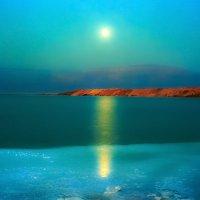 Восход луны над Мёртвым морем :: Игорь Герман
