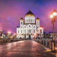 Ночь у Храма Христа Спасителя :: Юлия Батурина