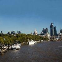 Река Темза. Вид на лондонский район Сити. :: Надежда