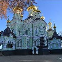 Горят купола Никольского собора Свято-Покровского Киевского женского монастыря :: Тамара Бедай