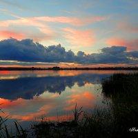 Закат на озере :: Геннадий Ячменев