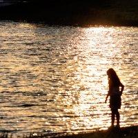У озера в часы заката... :: Анатолий Клепешнёв