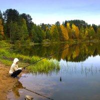 Вечерняя рыбалка. :: Валентин Кузьмин