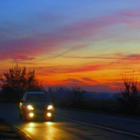 Ноябрь; дорога домой :: Николай Мартынов