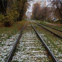 Поезд Осень - Зима .... :: Алёна Савина