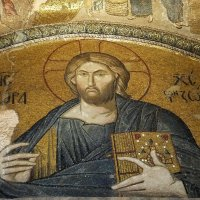 Мозаика Христос Вседержитель. Церковь Хора, или мечеть Карийе :: tina kulikowa