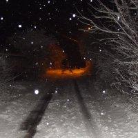 Снежный вечер. :: Виктор Тарасюк