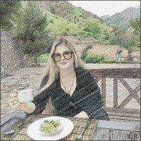 Аннушка....на отдыхе в горах. :: Людмила Богданова (Скачко)