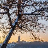 Закат в Киеве зимой :: Алексей Савченко