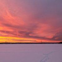 Зимний закат :: Леонид Никитин