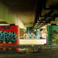 Мост,  Лужи...Street-Art.. :: Lilly