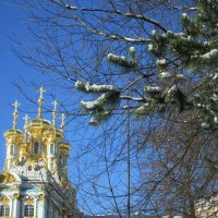 Церковь Екатерининского дворца. :: Самохвалова Зинаида