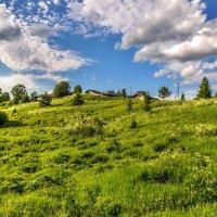 Небо над деревней. :: владимир