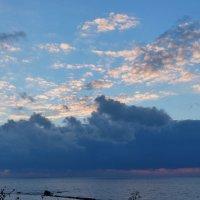закат за облаками. :: Пётр Беркун
