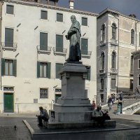 Venezia. Piazza Santa Fosca. Il Monumento A Paolo Sarpi. :: Игорь Олегович Кравченко
