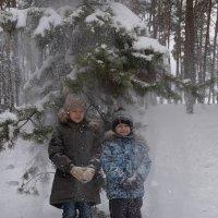 Снегопад - ёлку потрясли :: Елена Ахромеева