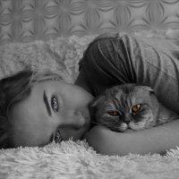 Кот и девушка :: Rada