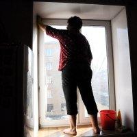 Весна, однако... Пора мыть окна :: Борис