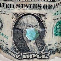 Coronavirus Healthcare Mask on One Dollar Bill :: Lucky Photographer