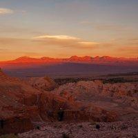 Вечерело в  пустыне Атакама... Чили! :: Александр Вивчарик