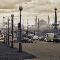 My magic Petersburg_03632_Марсово Поле с видом на Троицкий мост :: Станислав Лебединский