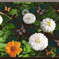 Цветы и бабочки. :: Наталья Цыганова