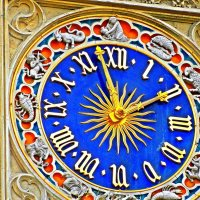 часы на башне церкви  Сен-Жермен-л'Осеруа :: Александр Корчемный
