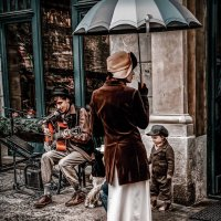 Леди и дождь. :: Евгений Мокин