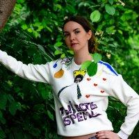 Ольга и ее авторская кофта :: Илья Браславец