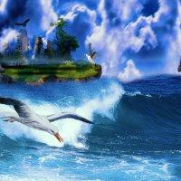 Остров в море. :: Марина Никулина