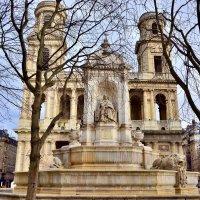 Церковь Сен-Сюльпис с одноименным фонтаном :: Eldar Baykiev