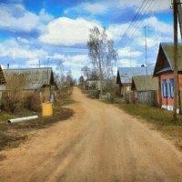 Деревенская улица (рис.) :: Глeб ПЛATOB