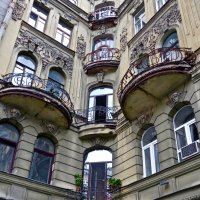 фрагмент дома в Большом Казачьем переулке :: Елена