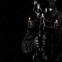 Портрет зимой. Фото со свечами. Автопортрет. :: Zefir58 Verx