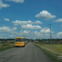 Курсирующий между сёлами школьный автобус :: Сергей Воинков