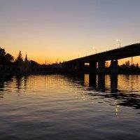 Мост через Волгу на закате. :: Елен@Ёлочка К.Е.Т.
