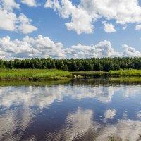Облака над речкой Тамица. :: Марина Никулина