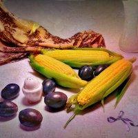 Сливы и кукуруза :: Наталия Лыкова